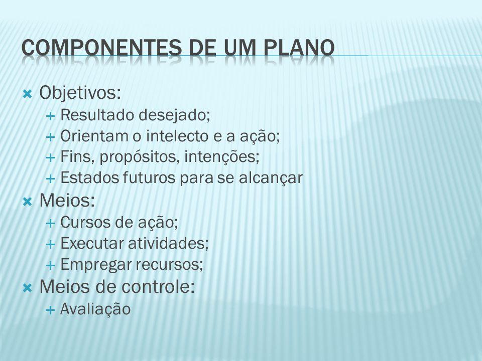 Componentes de um plano