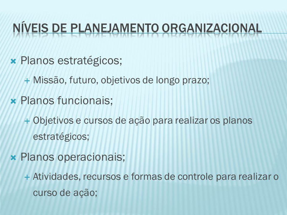 Níveis de planejamento organizacional