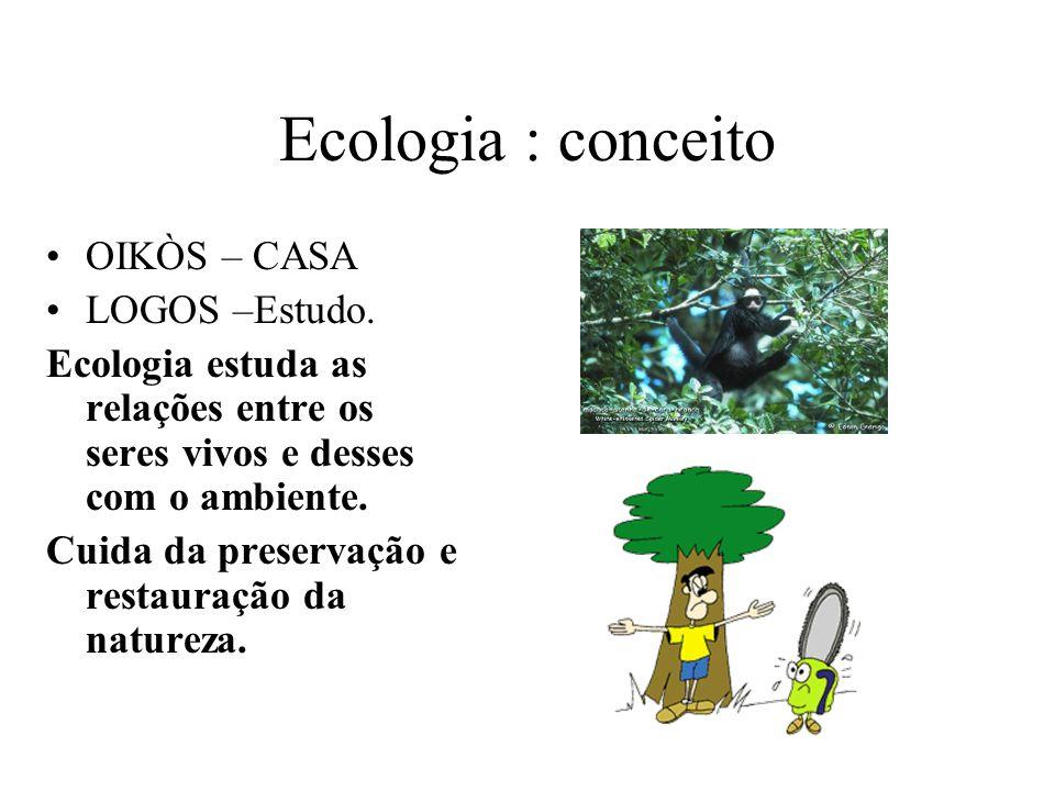 Ecologia : conceito OIKÒS – CASA LOGOS –Estudo.