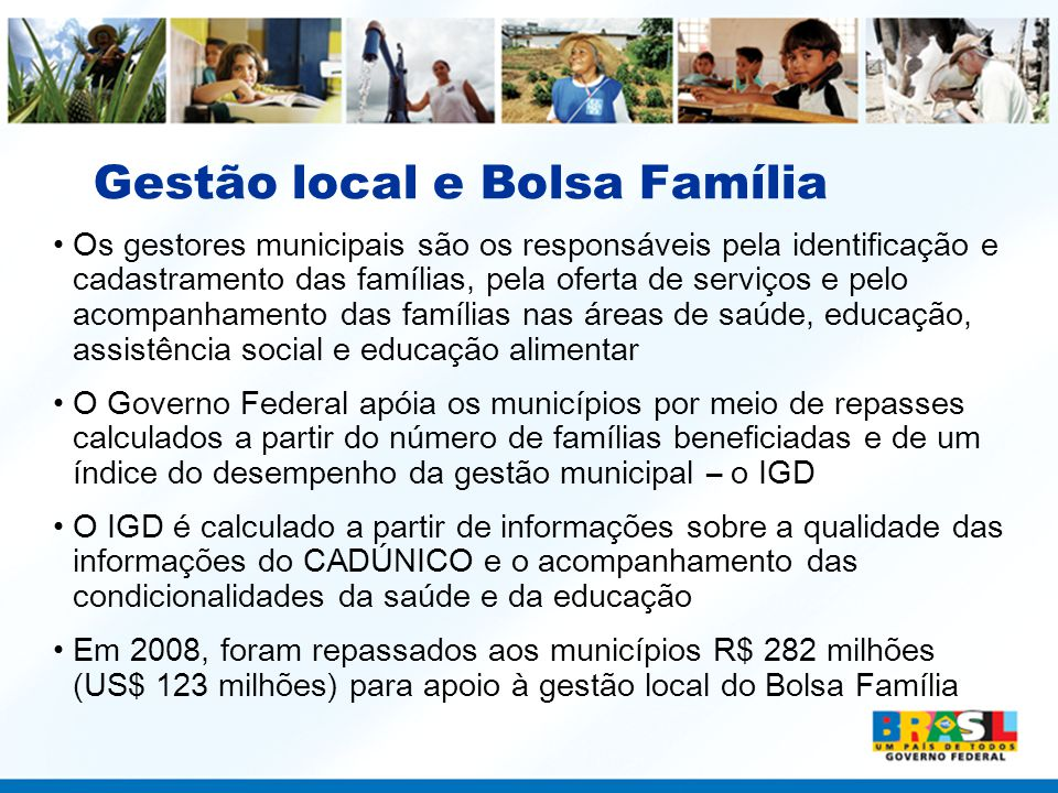 Gestão local e Bolsa Família