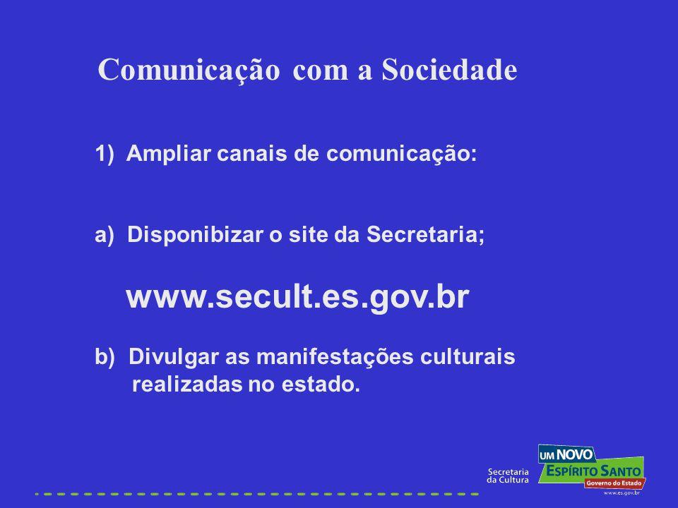 Comunicação com a Sociedade