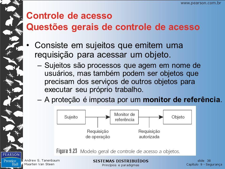 Controle de acesso Questões gerais de controle de acesso