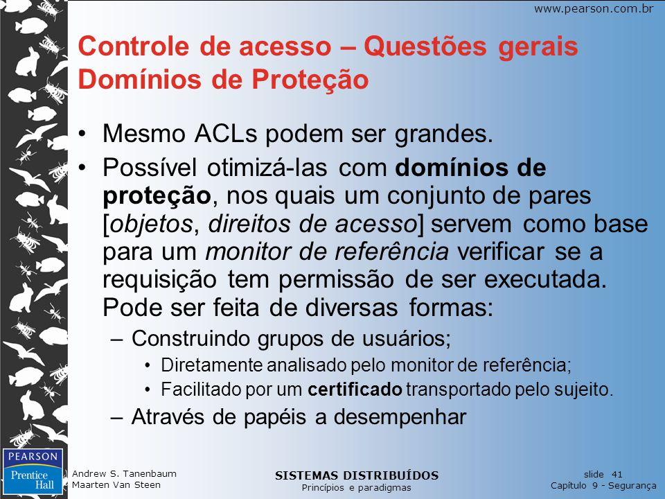 Controle de acesso – Questões gerais Domínios de Proteção