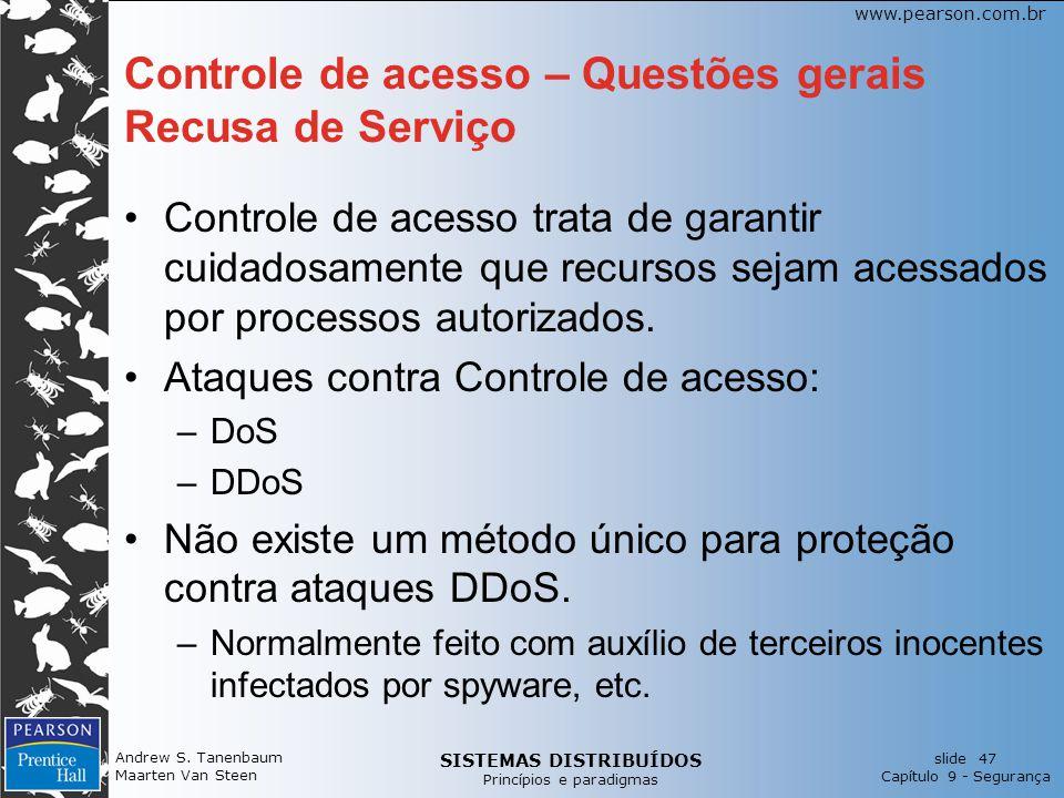 Controle de acesso – Questões gerais Recusa de Serviço