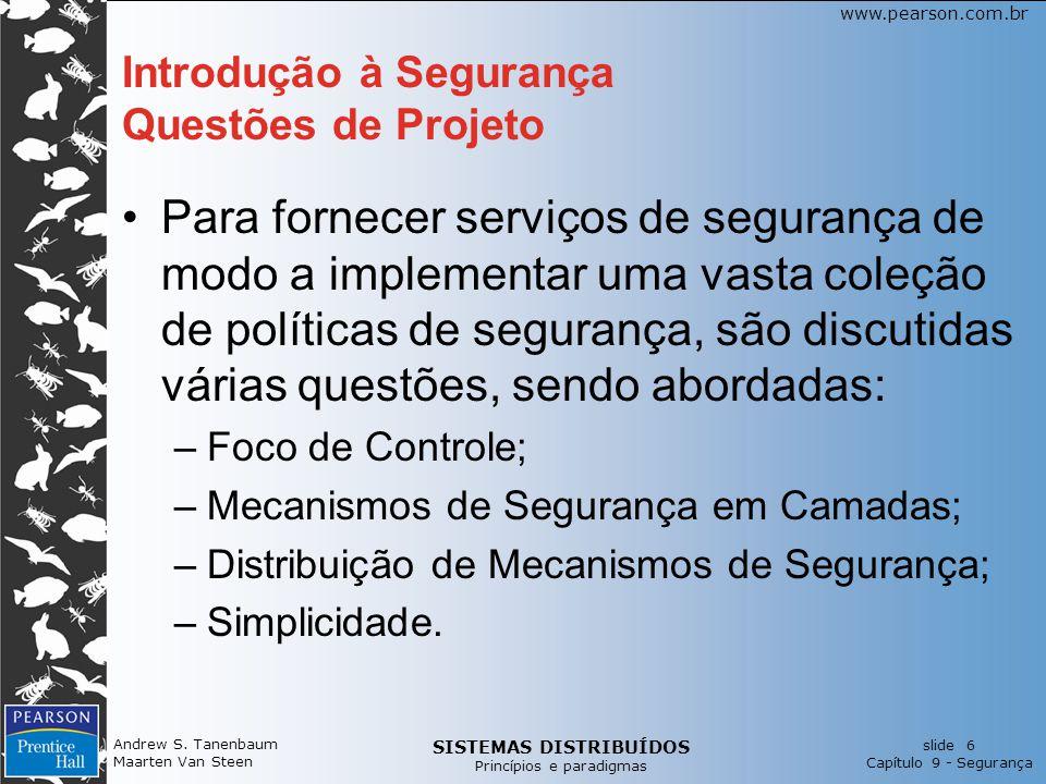Introdução à Segurança Questões de Projeto