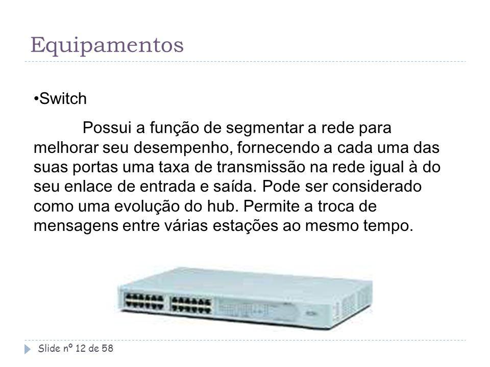 Equipamentos Switch.