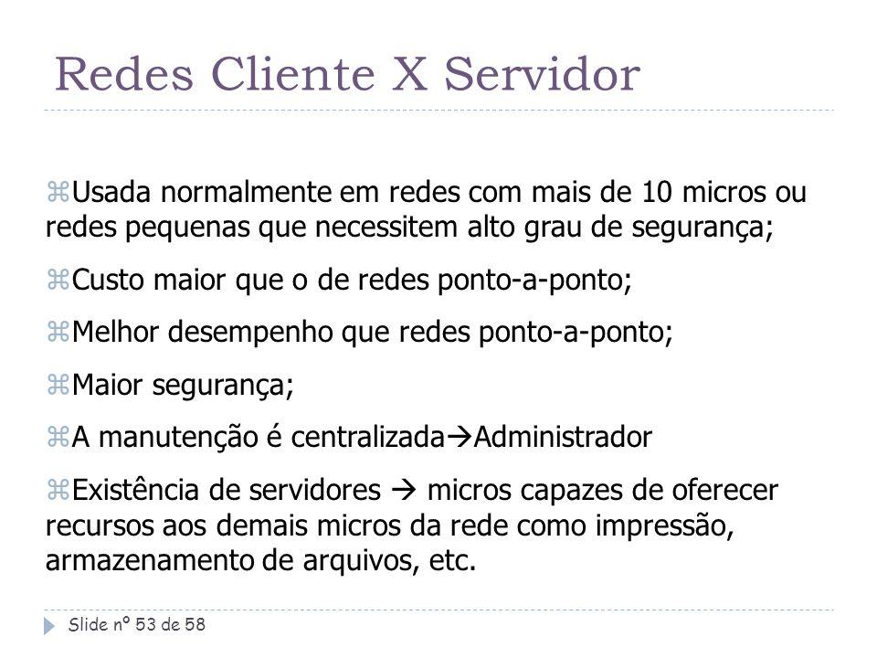 Redes Cliente X Servidor