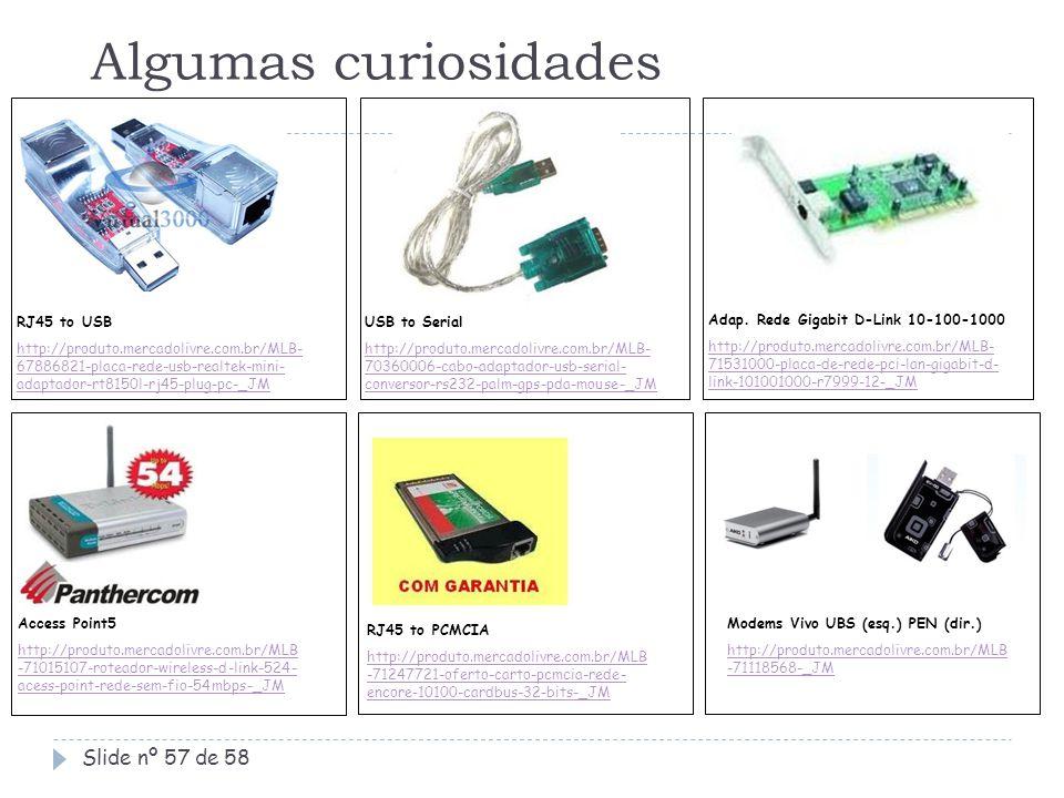 Algumas curiosidades RJ45 to USB