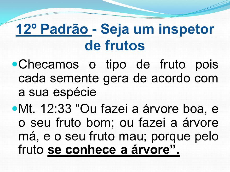 12º Padrão - Seja um inspetor de frutos