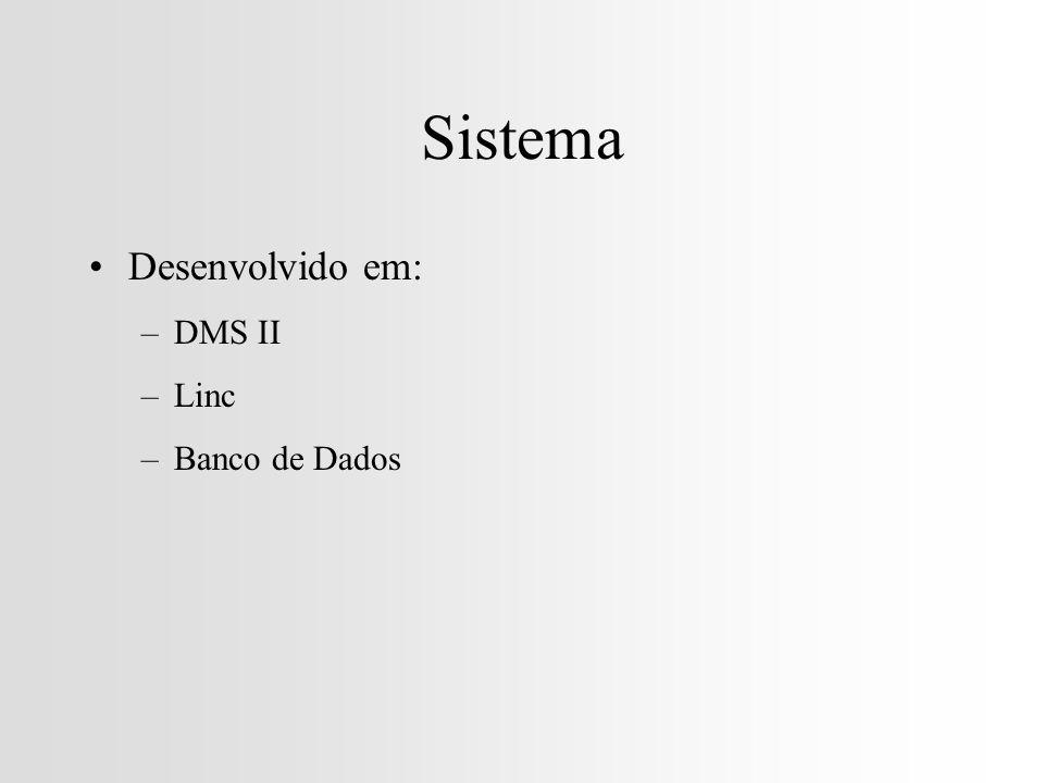 Sistema Desenvolvido em: DMS II Linc Banco de Dados
