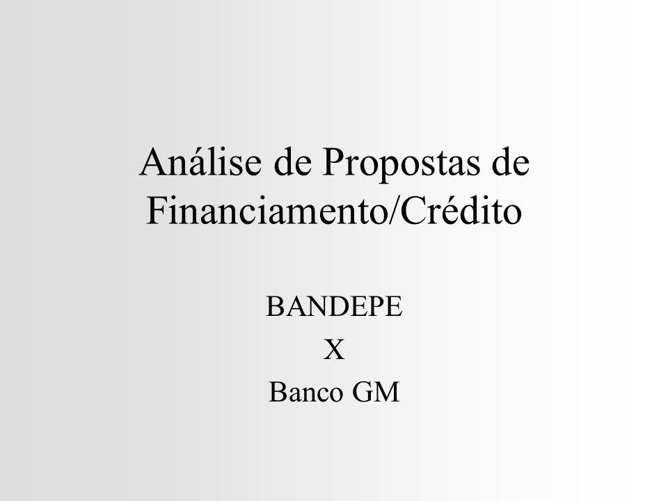 Análise de Propostas de Financiamento/Crédito
