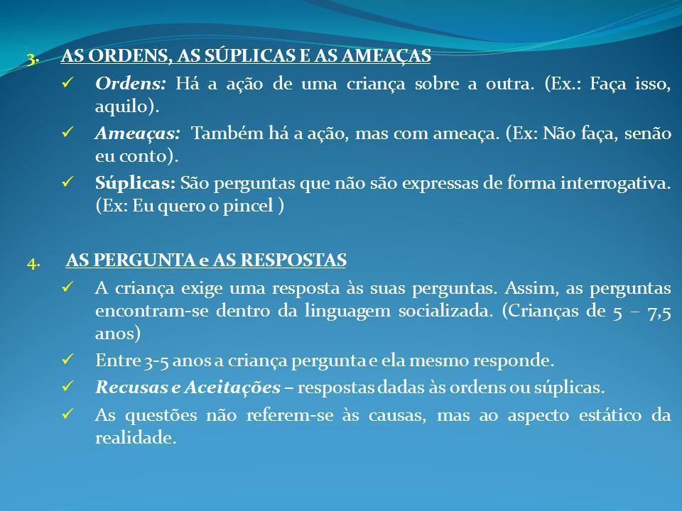 AS ORDENS, AS SÚPLICAS E AS AMEAÇAS