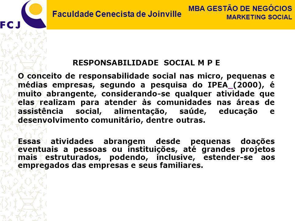 RESPONSABILIDADE SOCIAL M P E