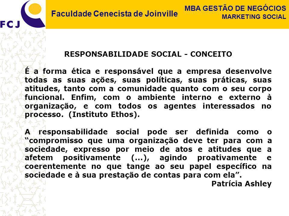 RESPONSABILIDADE SOCIAL - CONCEITO