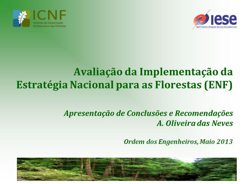 Avaliação da Implementação da Estratégia Nacional para as Florestas (ENF) Apresentação de Conclusões e Recomendações A.