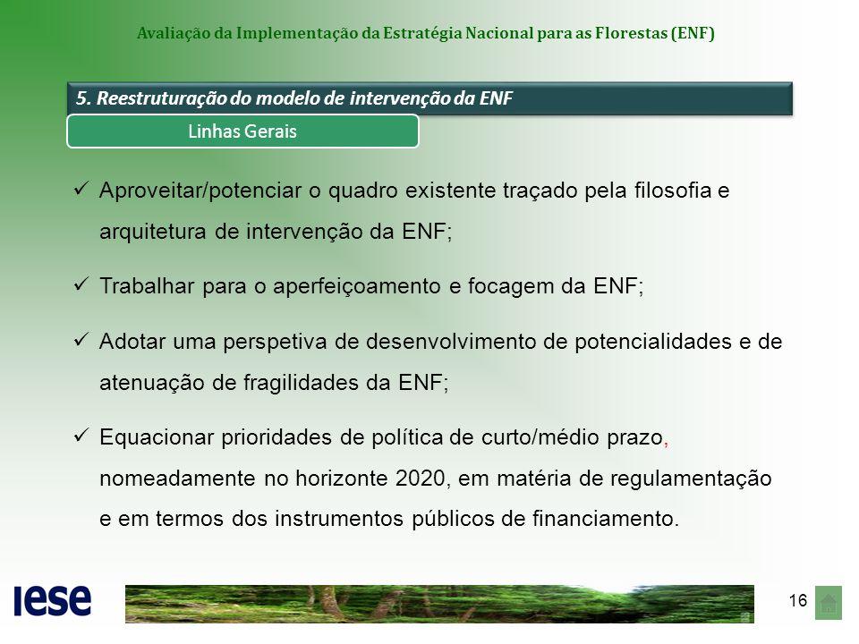 Trabalhar para o aperfeiçoamento e focagem da ENF;