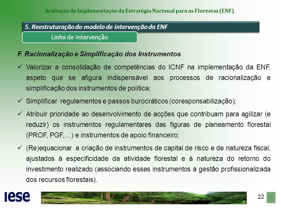 5. Reestruturação do modelo de intervenção da ENF
