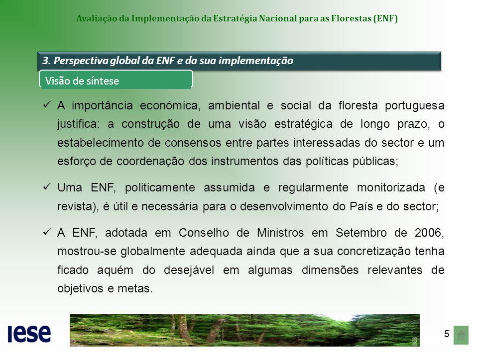 Avaliação da Implementação da Estratégia Nacional para as Florestas (ENF)