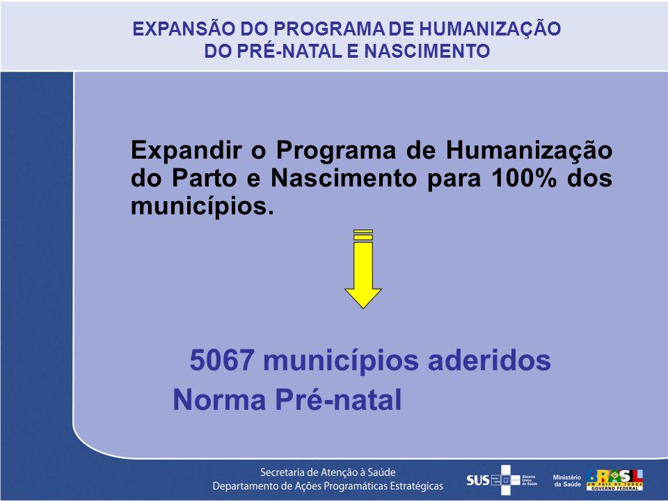EXPANSÃO DO PROGRAMA DE HUMANIZAÇÃO DO PRÉ-NATAL E NASCIMENTO