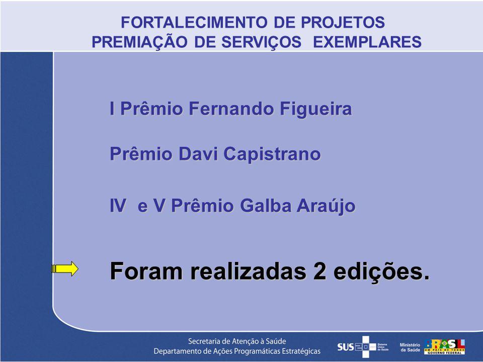 FORTALECIMENTO DE PROJETOS PREMIAÇÃO DE SERVIÇOS EXEMPLARES