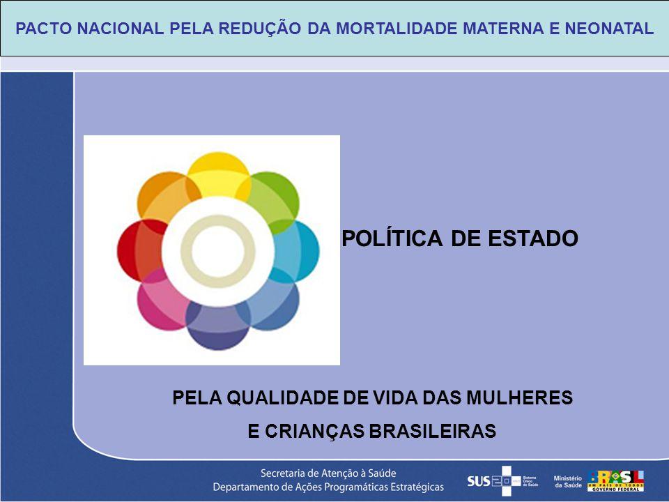 POLÍTICA DE ESTADO PELA QUALIDADE DE VIDA DAS MULHERES