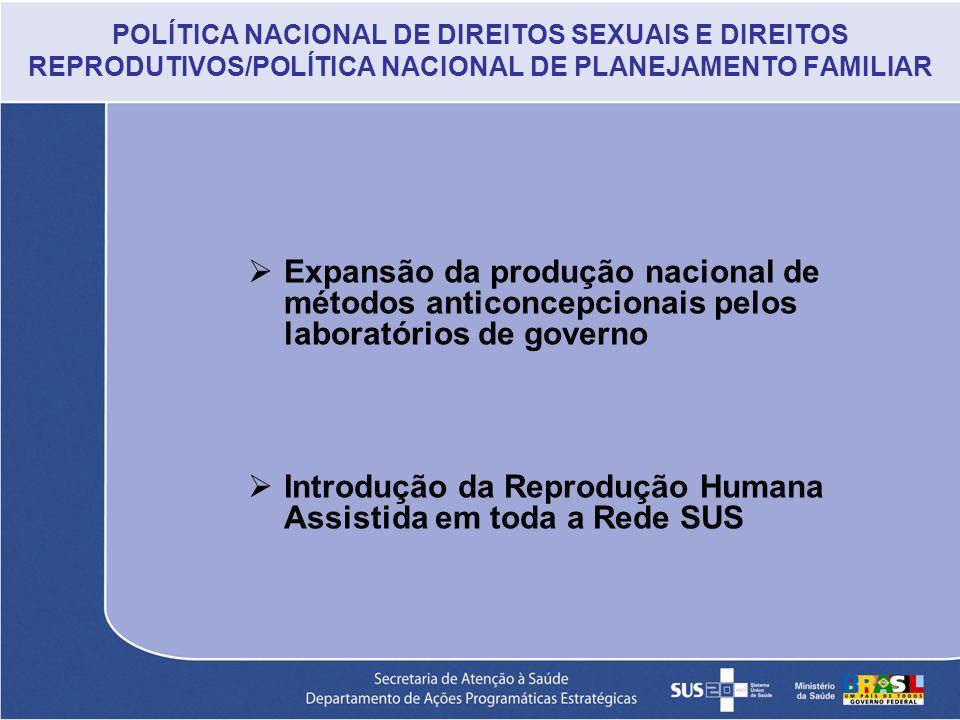 Introdução da Reprodução Humana Assistida em toda a Rede SUS