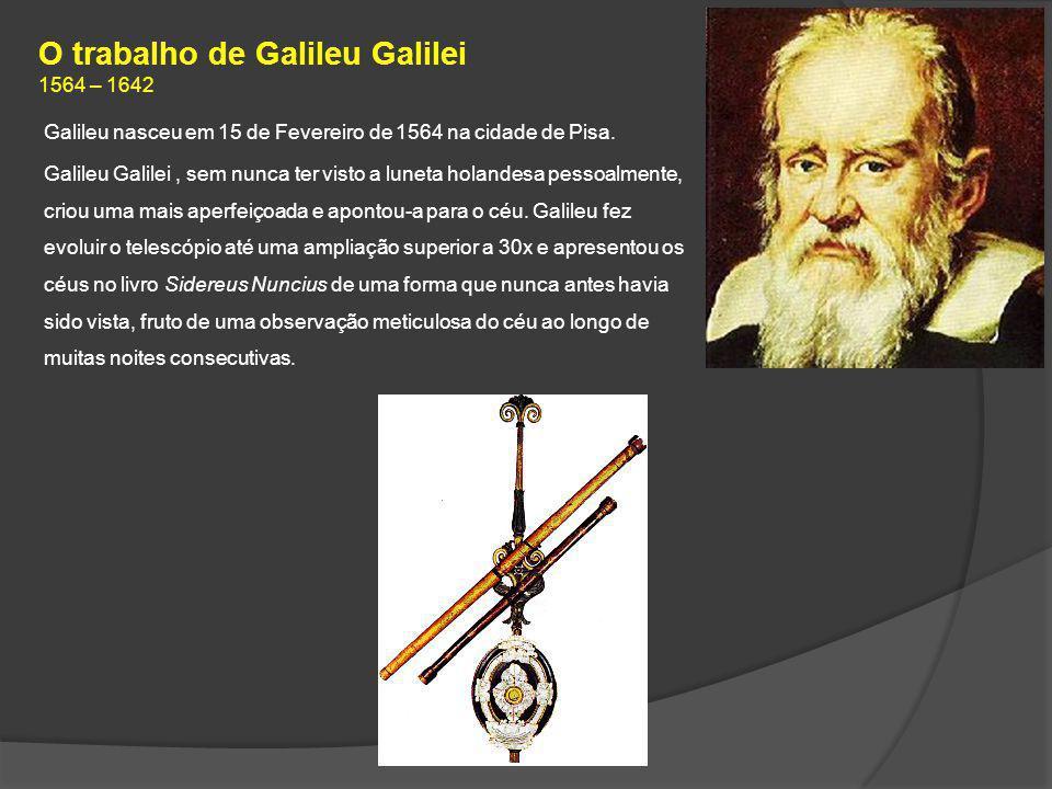 O trabalho de Galileu Galilei 1564 – 1642