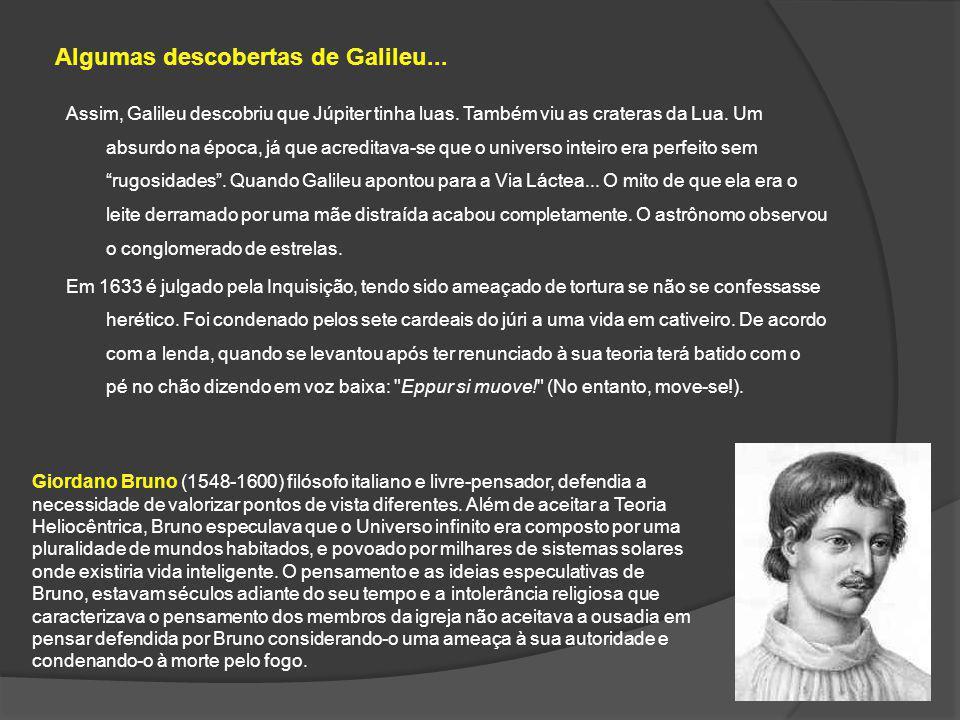 Algumas descobertas de Galileu...