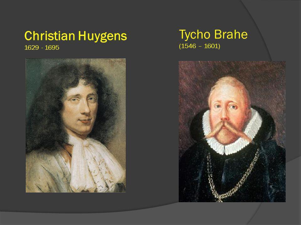 Christian Huygens 1629 - 1695 Tycho Brahe (1546 – 1601)