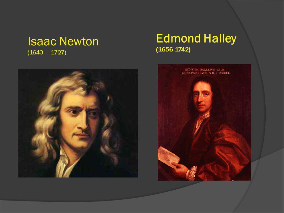 Isaac Newton (1643 – 1727) Edmond Halley (1656-1742)