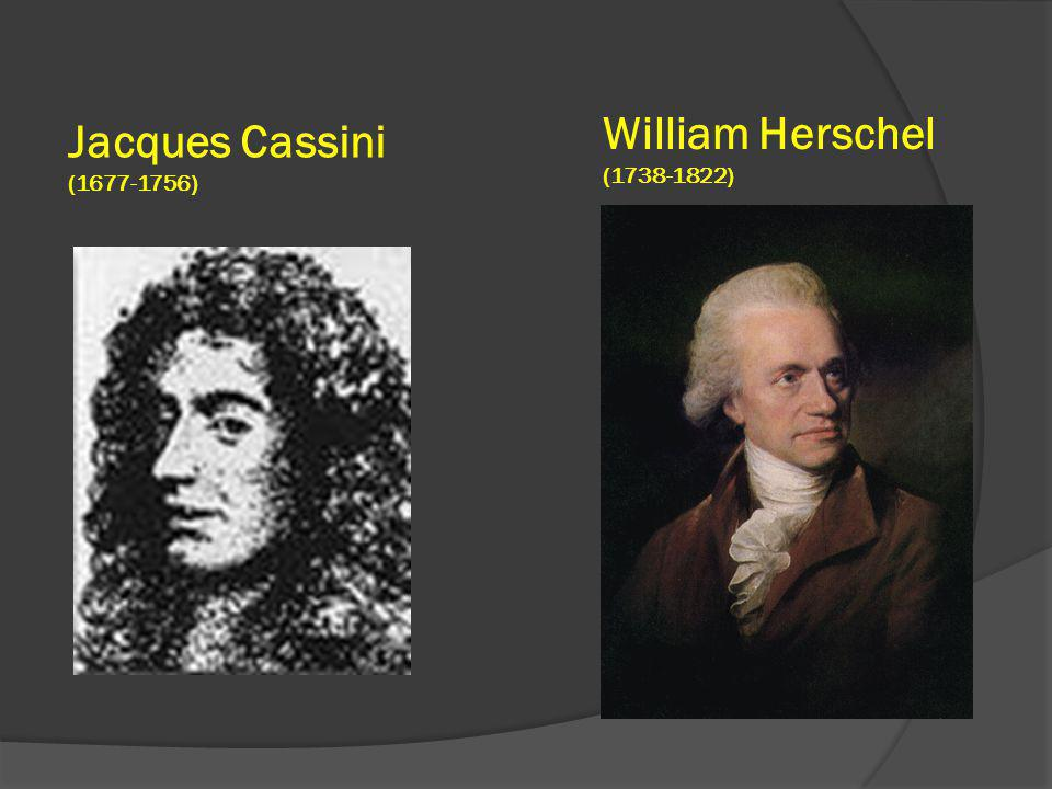 William Herschel (1738-1822) Jacques Cassini (1677-1756)