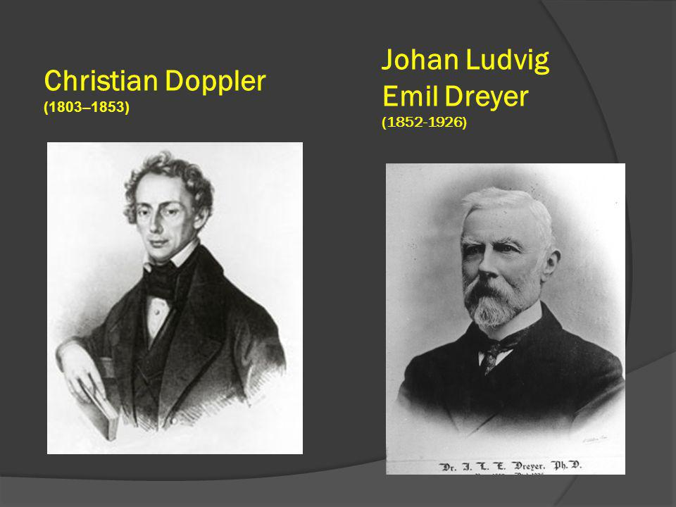 Johan Ludvig Emil Dreyer (1852-1926) Christian Doppler (1803–1853)