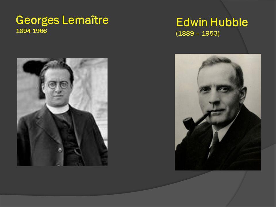 Edwin Hubble (1889 – 1953) Georges Lemaître 1894-1966