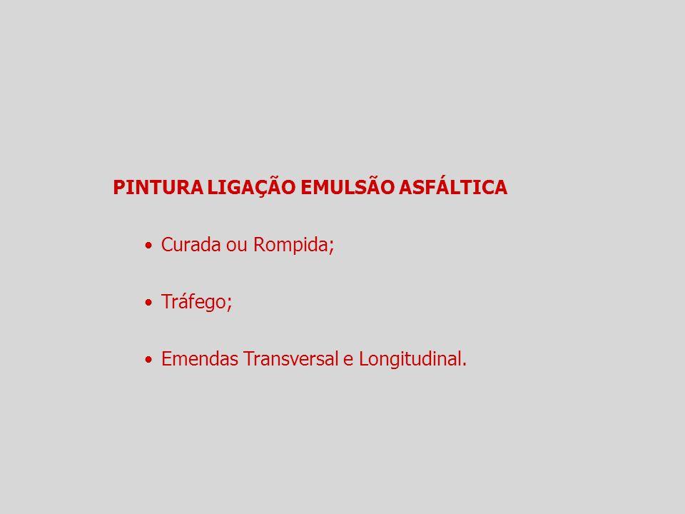 PINTURA LIGAÇÃO EMULSÃO ASFÁLTICA