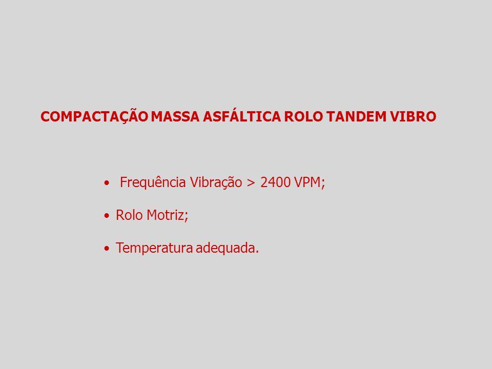 COMPACTAÇÃO MASSA ASFÁLTICA ROLO TANDEM VIBRO