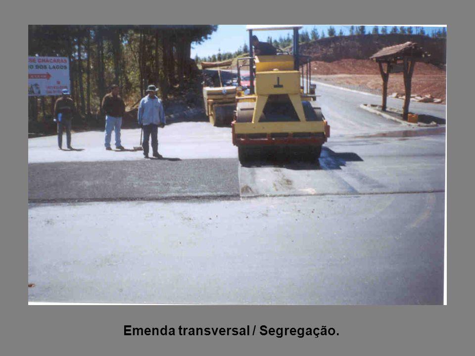 Emenda transversal / Segregação.