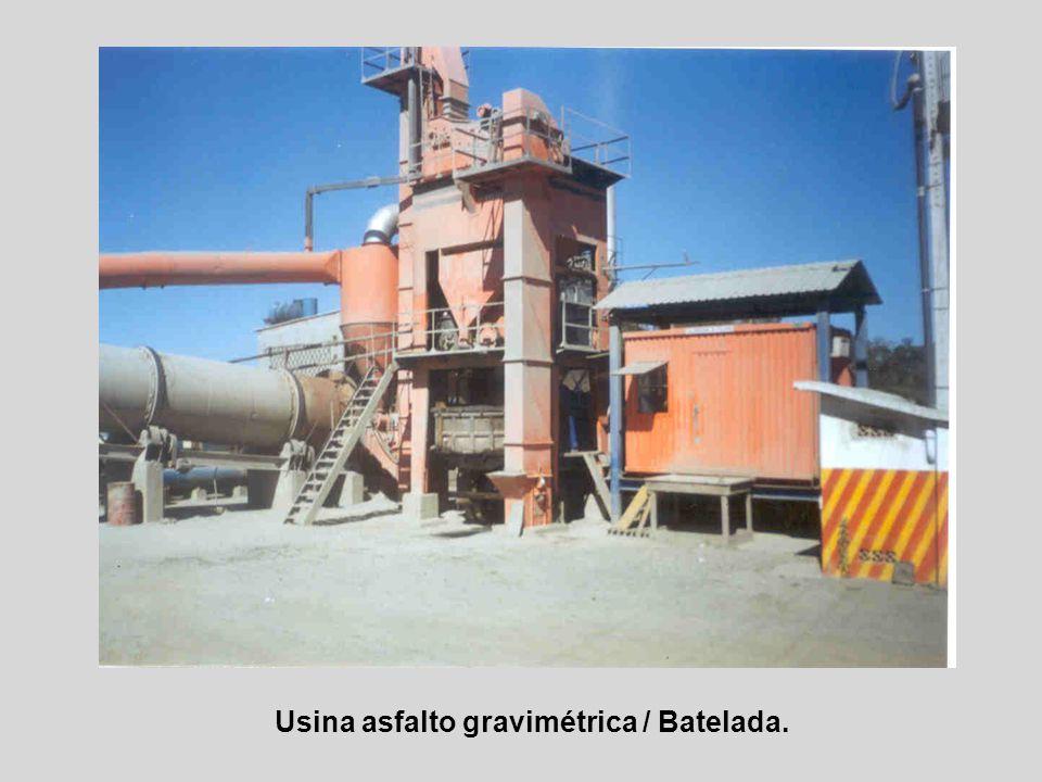 Usina asfalto gravimétrica / Batelada.