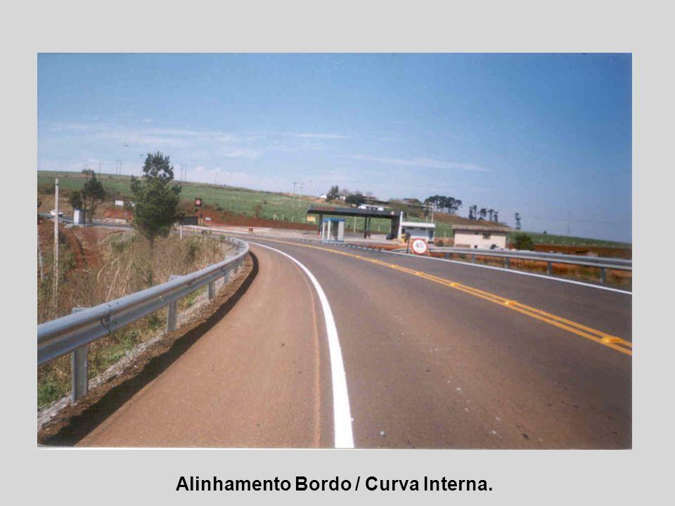 Alinhamento Bordo / Curva Interna.