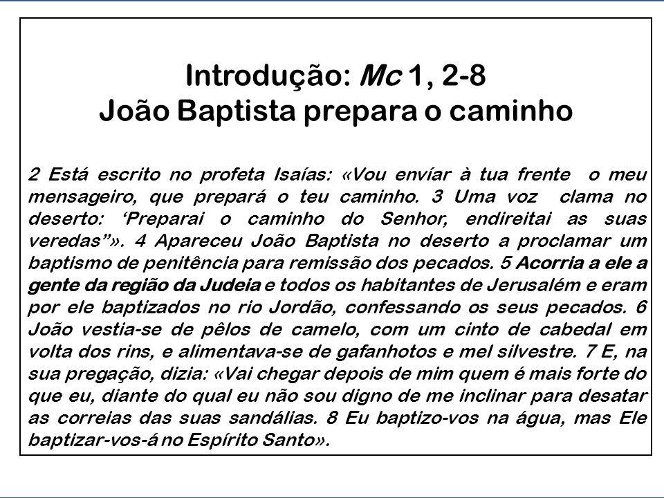 Introdução: Mc 1, 2-8 João Baptista prepara o caminho