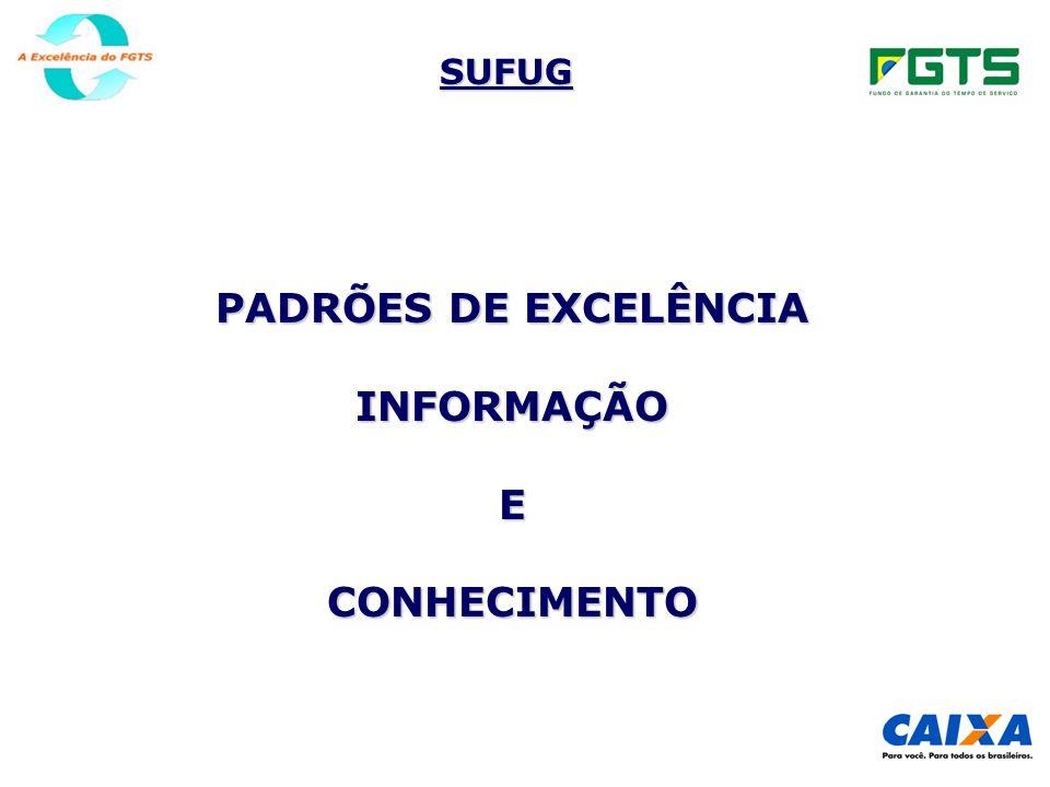 PADRÕES DE EXCELÊNCIA INFORMAÇÃO E CONHECIMENTO