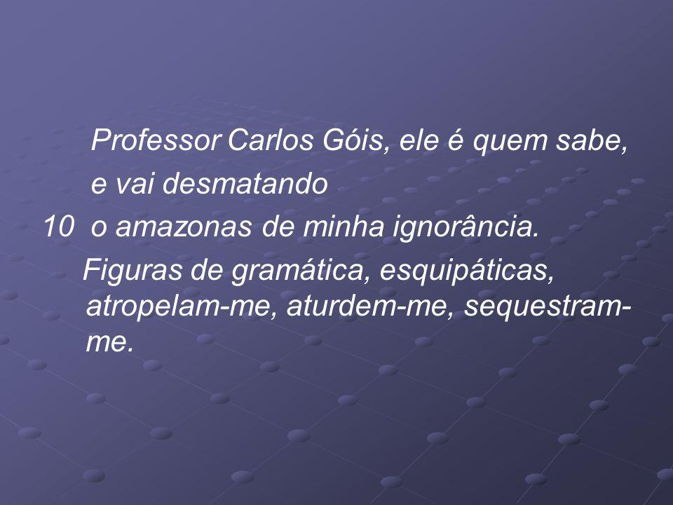 Professor Carlos Góis, ele é quem sabe,