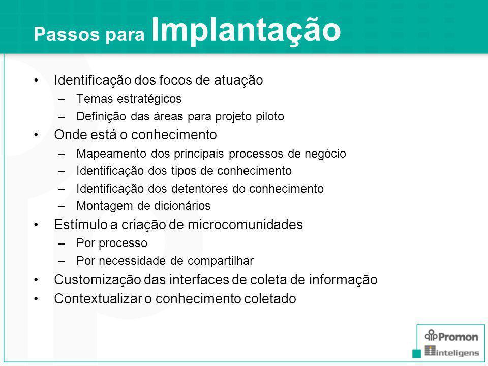 Passos para Implantação