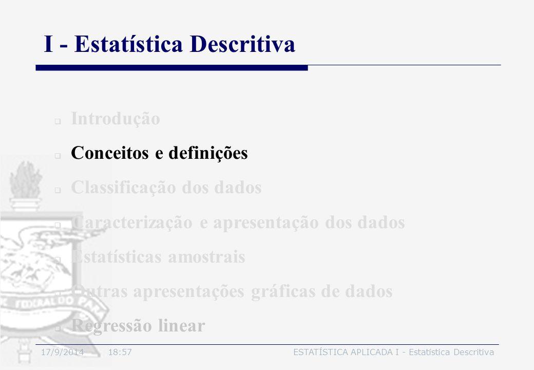 I - Estatística Descritiva