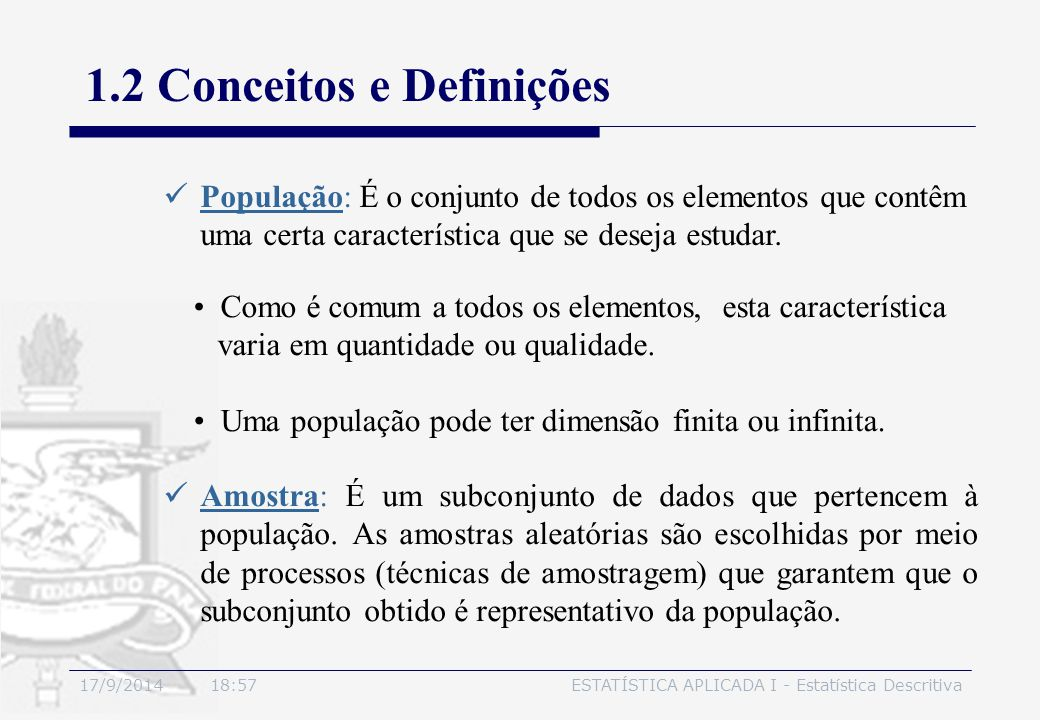 1.2 Conceitos e Definições