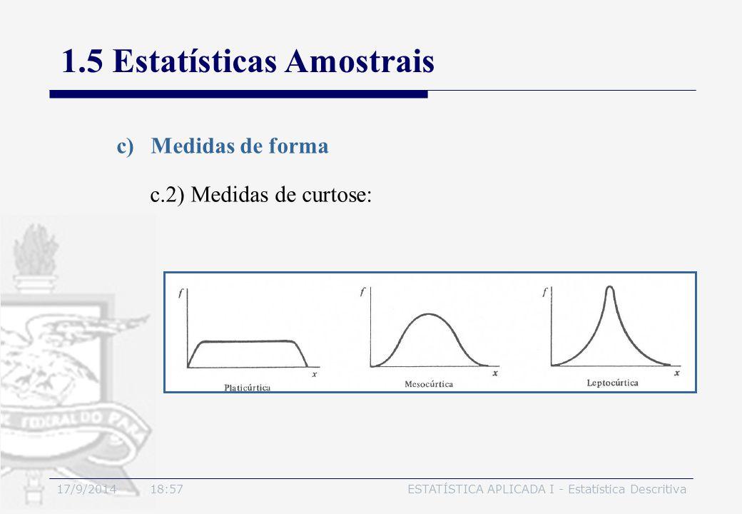 1.5 Estatísticas Amostrais