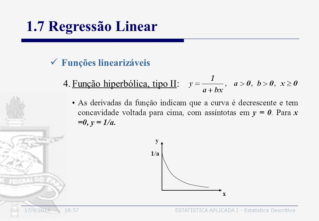 1.7 Regressão Linear Funções linearizáveis