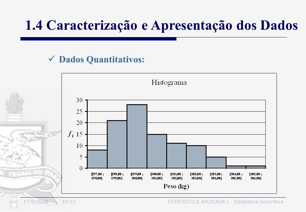 1.4 Caracterização e Apresentação dos Dados