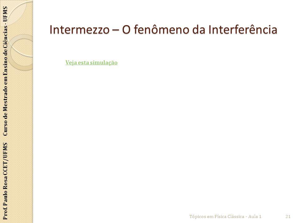Intermezzo – O fenômeno da Interferência