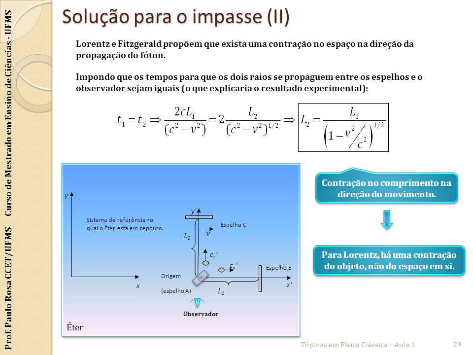 Solução para o impasse (II)