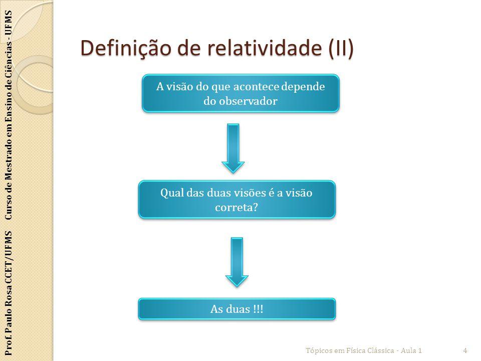 Definição de relatividade (II)